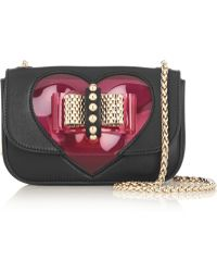 Christian Louboutin Sweety Charity Mini Pvc And Leather Shoulder Bag - Lyst
