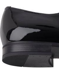 Prada Patent Cap-Toe Balmorals - Lyst