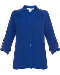 Diane Von Furstenberg Blue Harlow Shirt - Lyst
