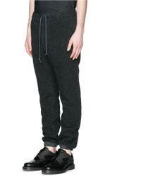 Sacai Nylon Elastic Cuff Tweed Jogging Trousers - Blue
