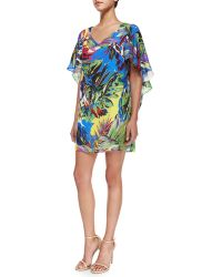Milly Bella Floral-Print Dress multicolor - Lyst