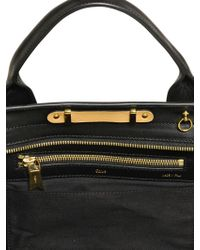 Chloé Large Alice Shiny Leather Top Handle - Lyst