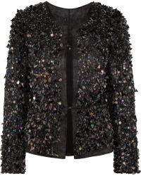 Theyskens' Theory Jaspon Embellished Silktulle Jacket - Lyst