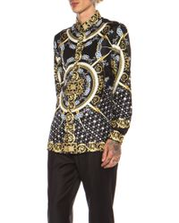 Versace Archival Patterned Silk Shirt - Lyst