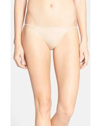 Calvin Klein Sleek String Bikini Briefs - Lyst