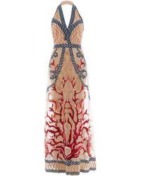 Temperley London Long Coral Dress - Lyst