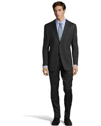 Tommy Hilfiger Charcoal Wool 2-button Keene Suit with Flat Front Pants - Lyst