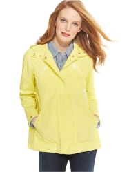 Tommy Hilfiger Hooded Raincoat - Lyst
