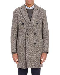 Aquascutum | Tweed Double-breasted Coat | Lyst