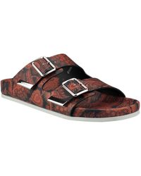 Givenchy Swiss Nappa Leather Sandals With Paisley Print - Lyst