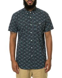 RVCA The Fever Flowers Short Sleeve Button Down - Lyst