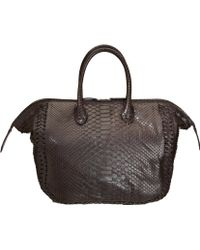 Zagliani Python Medium Diana Bag - Lyst