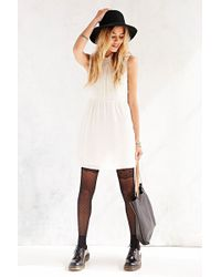 Cope - Lace-Collar Button-Front Dress - Lyst
