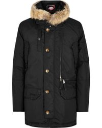 Pajar - Eagle Black Fur-trimmed Padded Parka - Lyst