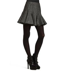 BCBGeneration Metallic Tweed Skater Skirt - Lyst