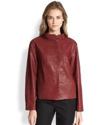 Lafayette 148 New York Leather Darra Topper - Lyst