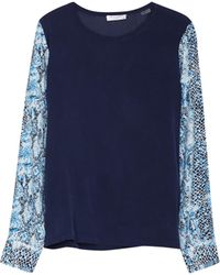 Equipment Liam Tee with Contrast - Lyst