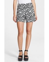 Opening Ceremony Layered Frond Print Shorts - Lyst