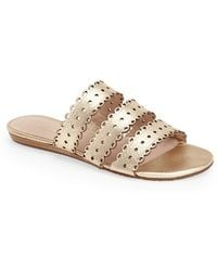 Kate Spade 'Brittany' Leather Flat Sandal - Lyst