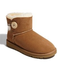 Ugg 'Mini Bailey Button' Boot - Lyst