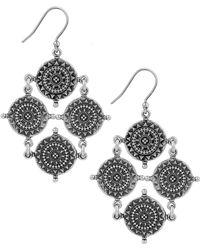 Lucky Brand - Silver-tone Coin Drop Earrings - Lyst