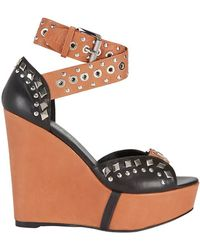 Barbara Bui - Studded Strap Combo Wedge - Lyst