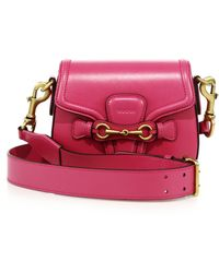 Gucci | Lady Web Small Leather Shoulder Bag | Lyst