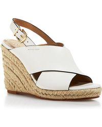 Via Spiga Open Toe Slingback Platform Wedge Espadrille Sandals - Rosette - Bloomingdale'S Exclusive - Lyst