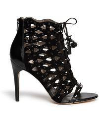 Sam Edelman Allison Stud Cutout Suede Sandals - Lyst
