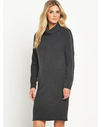 French connection Vhari Zip Sleeve Jumper - Lyst