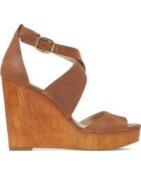 Lucky Brand Women'S Lyndell Platform Wedge Sandals - Lyst