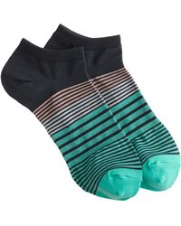 J.Crew Sectioned Striped Ankle Socks - Lyst