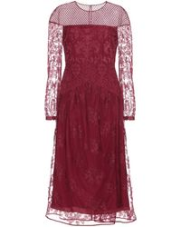 Burberry Prorsum Purple Lace Dress - Lyst