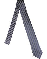 Lanvin Stripes Silk Tie - Lyst