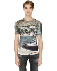 Dolce & Gabbana Port Printed Cotton T-Shirt - Lyst