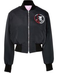Olympia Le-Tan Embroidered Bongo Bomber Jacket - Lyst