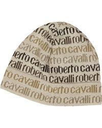 Roberto Cavalli - Signature Woven Wool Blend Men's Hat - Lyst