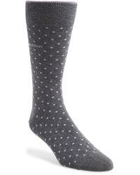 Calvin Klein Dot Socks gray - Lyst