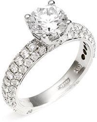 Jack Kelége 'romance' Pave Diamond Engagement Ring Setting - Metallic