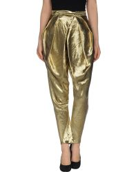 Balmain Casual Pants gold - Lyst