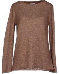Base Sweater brown - Lyst