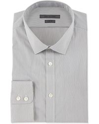 John Varvatos Slim-Fit Micro-Check Dress Shirt - Lyst