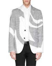 Alexander McQueen Houndstooth Cotton Blazer - Lyst