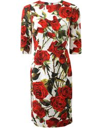 Dolce & Gabbana Rose Dress multicolor - Lyst