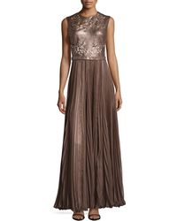 Catherine Deane Naya Laser-cut Leather Gown - Lyst