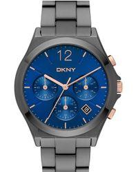DKNY - 'parsons' Chronograph Bracelet Watch - Lyst