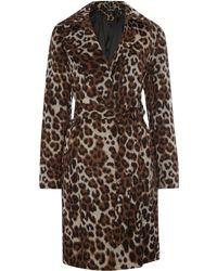 Ellen Tracy - Leopard Print Wool Coat - Lyst