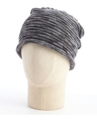 Grace Hats Grey And Black Cable Knit Beanie - Lyst