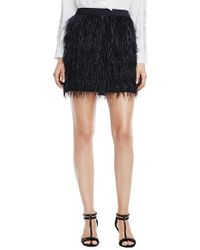 Vince Camuto Feather Skirt - Black