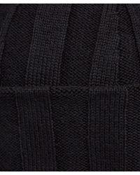 John Smedley - Black Hindburn Merino Knit Beanie Hat - Lyst